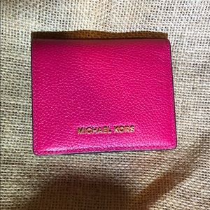 Pink leather brand new Michael Kors small wallet